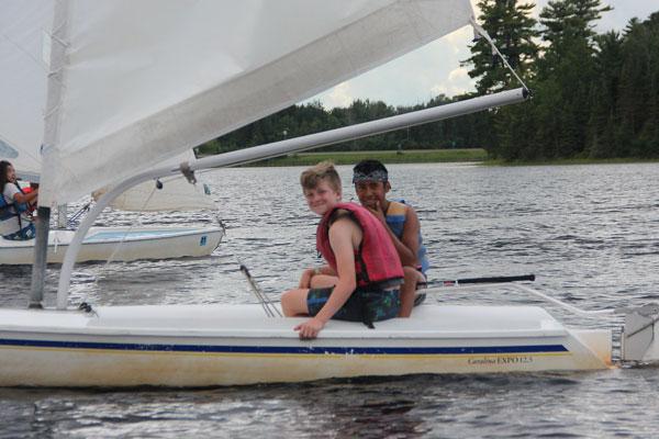 Sailing Emphasis Program at Camp Warren