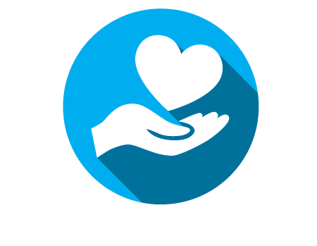 Heart Icon with Hand