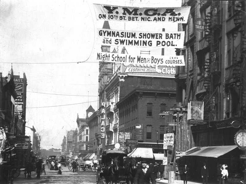 YMCA Street banners 1856