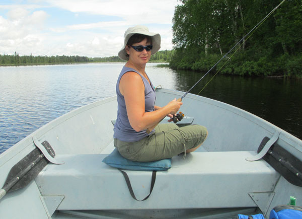 Fishing boat rental at Camp Northern Lights