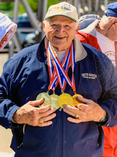 Competing nationally in the Senior Games, and giving back