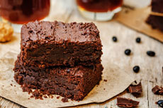 Fudgy brownies with cherries