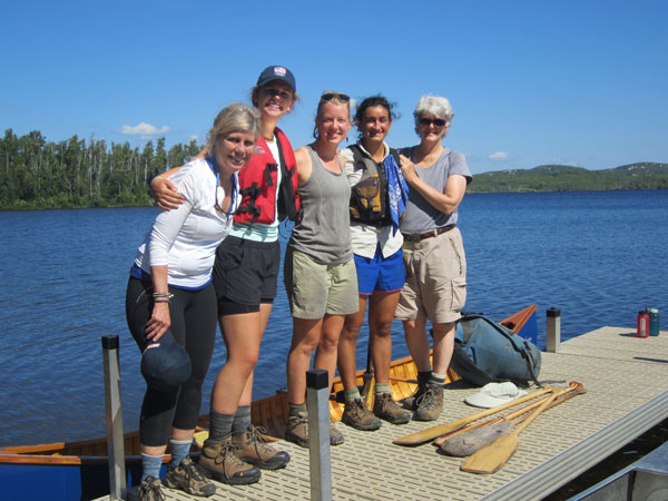 Adult Wilderness Adventures participants