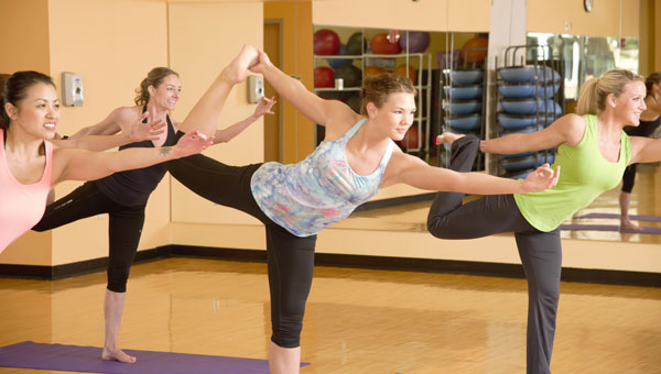 Pilates and yoga in one class